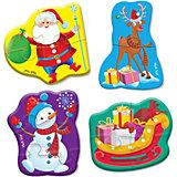 Мягкий пазл Vladi Toys Baby puzzle Новогодние приключения, 4 шт