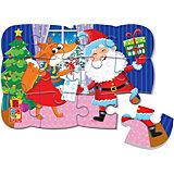 Пазл на магните Vladi Toys Новогоднее веселье, 12 элементов
