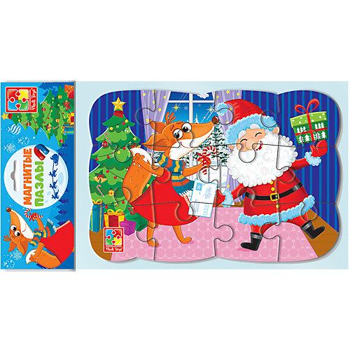 Пазл на магните Vladi Toys Новогоднее веселье, 12 элементов от Vladi Toys
