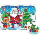 Пазл на магните Vladi Toys Дед Мороз и котик, 12 элементов