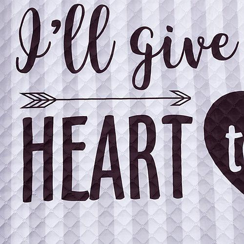 Покрывало Этель My heart, 180х220 см - серый