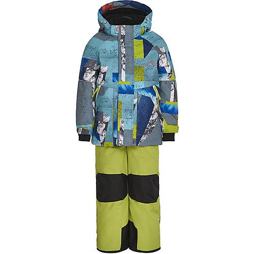 Комплект Oldos Драго: куртка и полукомбинезон - голубой