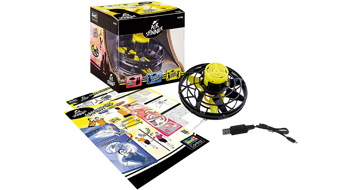 RC Air Spinner, schwarz matt