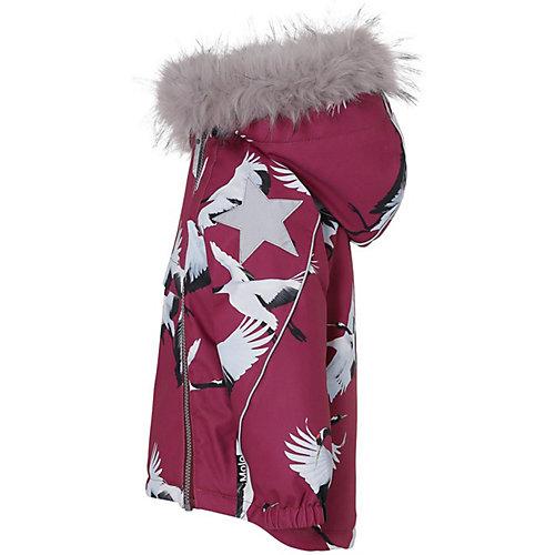 Утеплённая куртка Molo - бордовый
