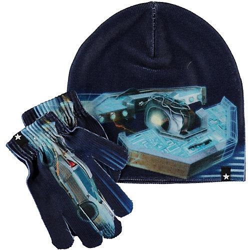 Комплект Molo: шапка и перчатки - синий