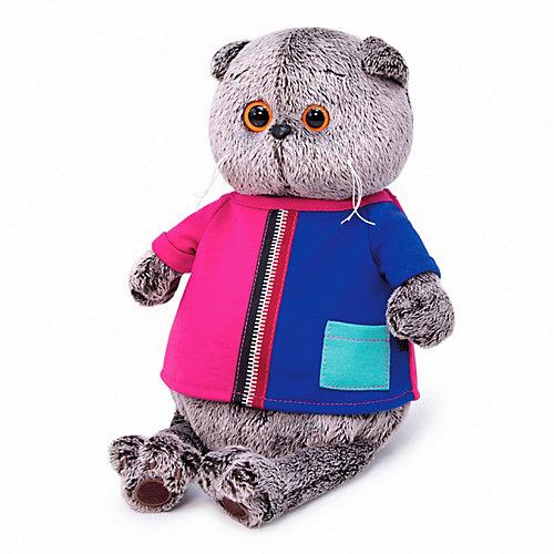 Мягкая игрушка Кот Басик в двухцветной футболке, 22 см от Budi Basa