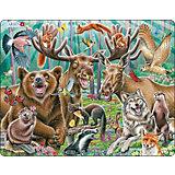 Пазл Larsen Счастливые лесные животные, 42 элемента