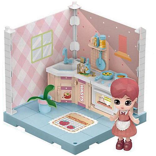 Модульный домик ABtoys Мини-кукла на кухне, 1 секция от ABtoys