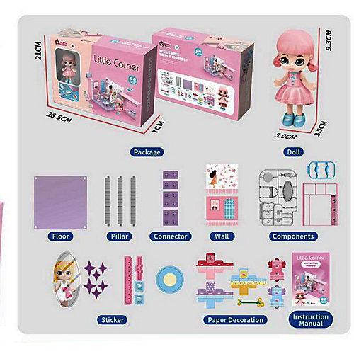 Модульный домик ABtoys Мини-кукла в гардеробной комнате, 1 секция от ABtoys