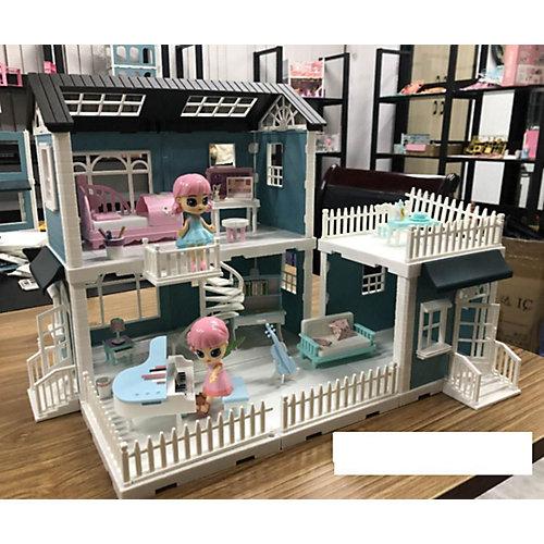 Модульный домик ABtoys Мини-куколки в гостинной, музыкальной комнате и спальне, 8 секций от ABtoys