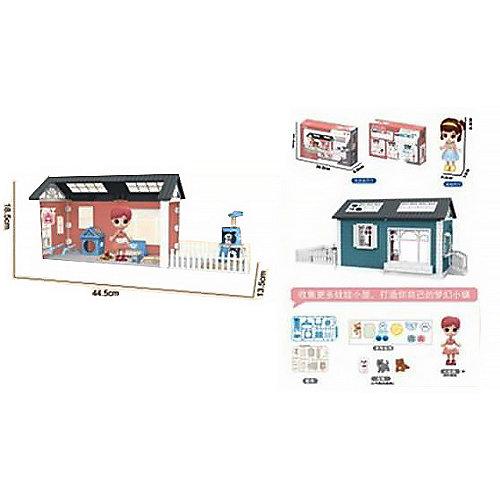 Модульный домик ABtoys Мини-кукла с питомцами и их домиками, 3 секции от ABtoys