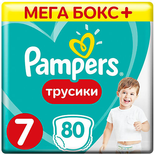 Трусики Pampers Pants 17+ кг, 80 шт от Pampers