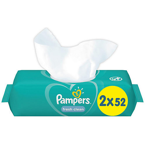 Детские влажные салфетки Pampers Fresh Clean, 2 х 52 шт от Pampers