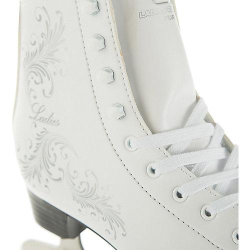 Фигурные коньки Спортивная коллекция Ladies fur Classic - белый от Спортивная Коллекция