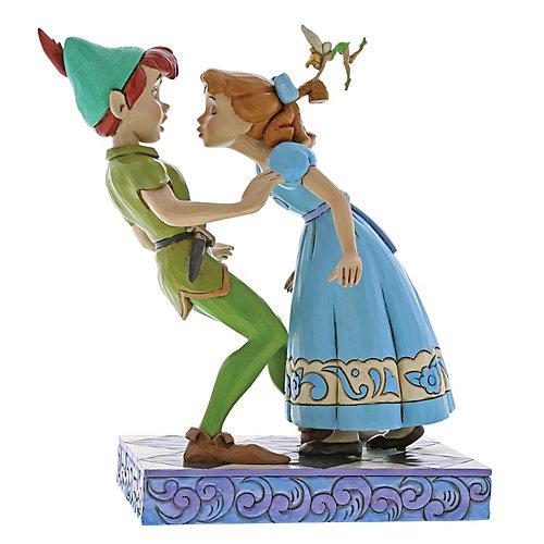 """Фигурка Enesco Disney Traditions """"Неожиданный поцелуй: Венди и Питер"""" от Enesco"""
