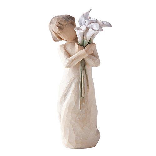 """Фигурка Enesco Willow tree """"Наилучшие пожелания"""", с белыми цветами от Enesco"""