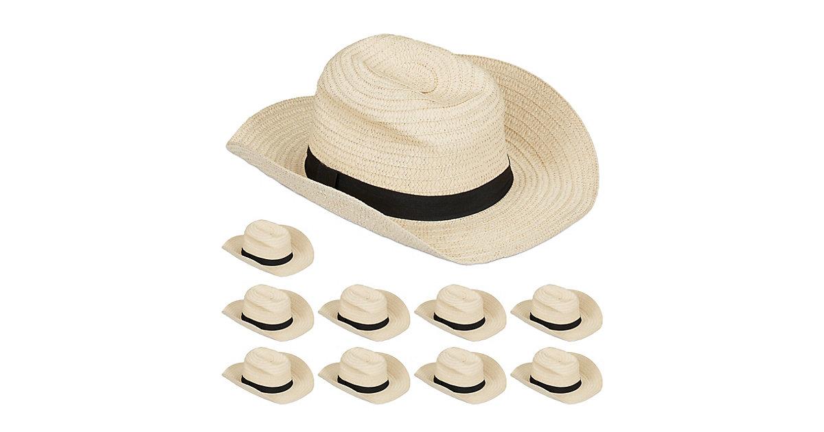 10 x Panamahut, Trilby Hut, Strohhut Damen Kostümhut Fedora Hut Herren Bogarthut beige