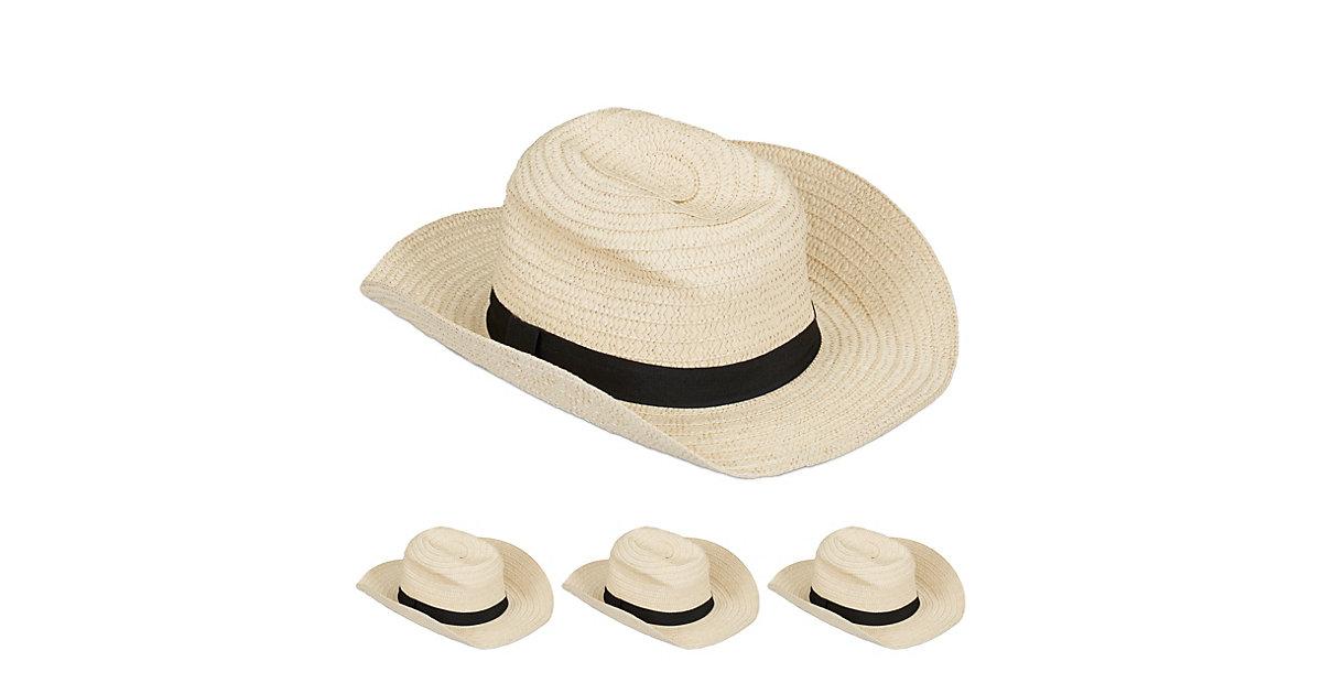 4 x Panamahut, Trilby Hut, Strohhut Damen, Kostümhut Fedora Hut Herren Bogarthut beige