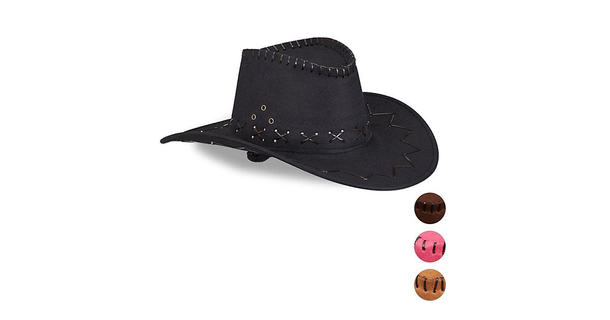 1 x Cowboyhut Westernhut Faschingshut Scherzhut Fasching Karneval schwarz