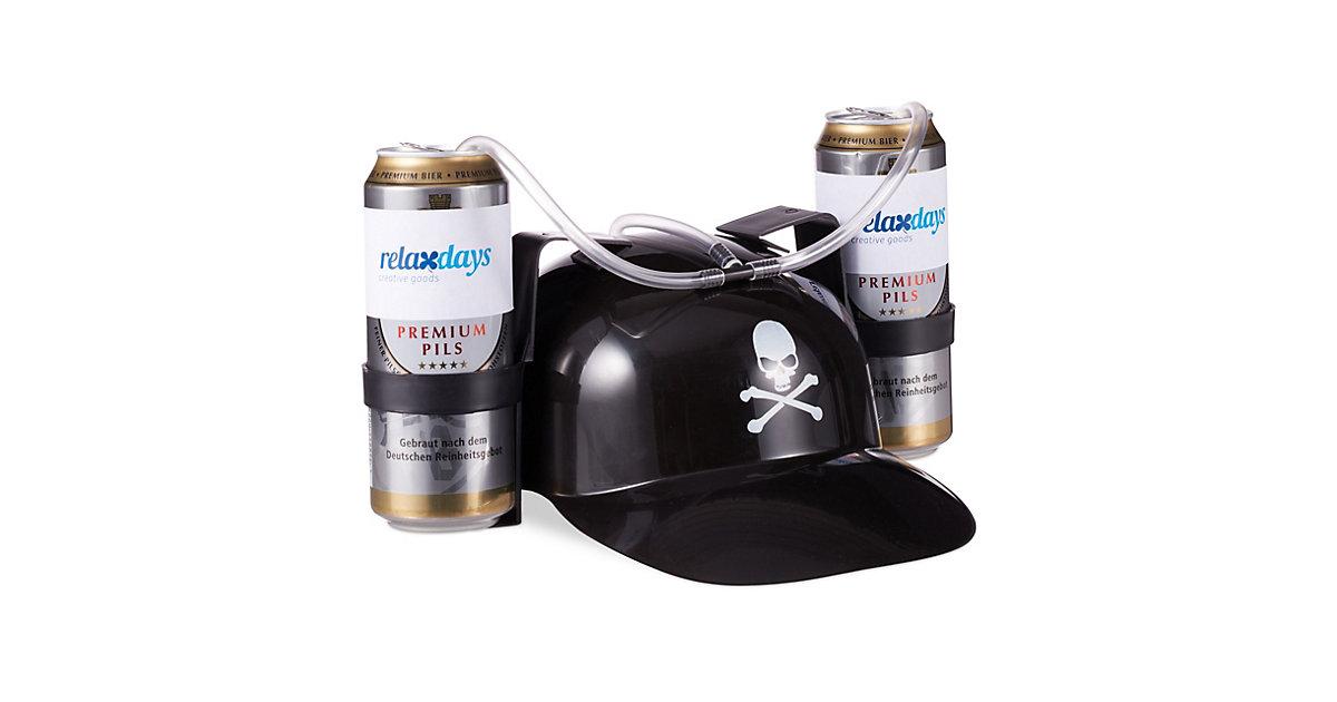 Trinkhelm Pirat schwarz