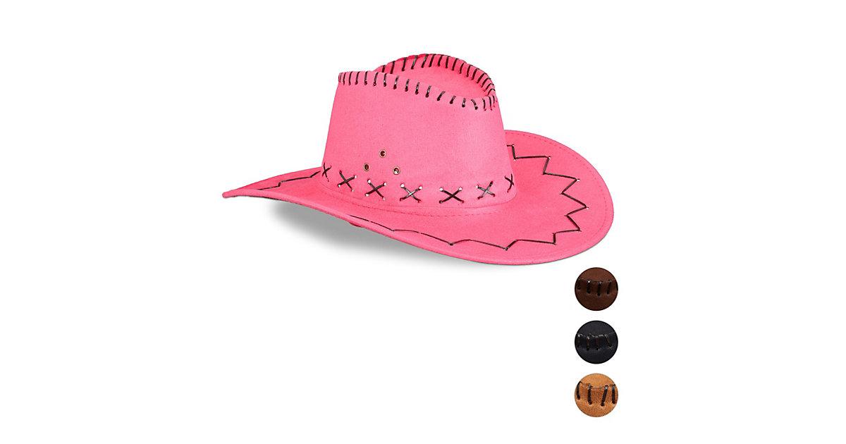 1 x Cowboyhut Erwachsene, Scherzhut Karneval, Westernhut Faschingshut pink  Erwachsene