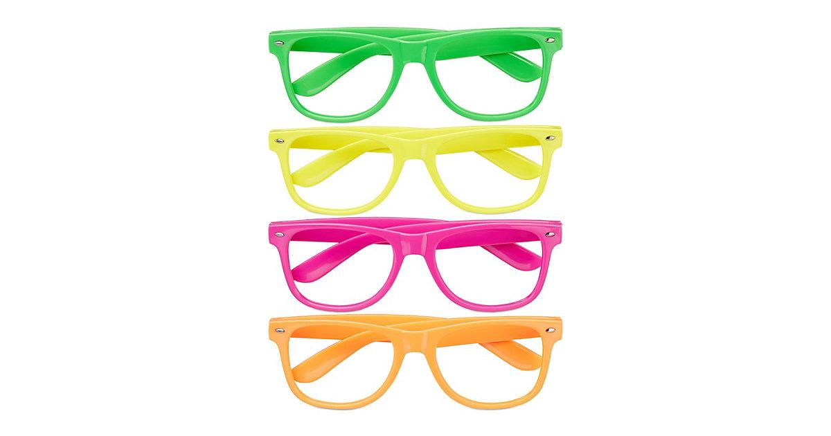 Bunte Partybrille im 4er Set mehrfarbig