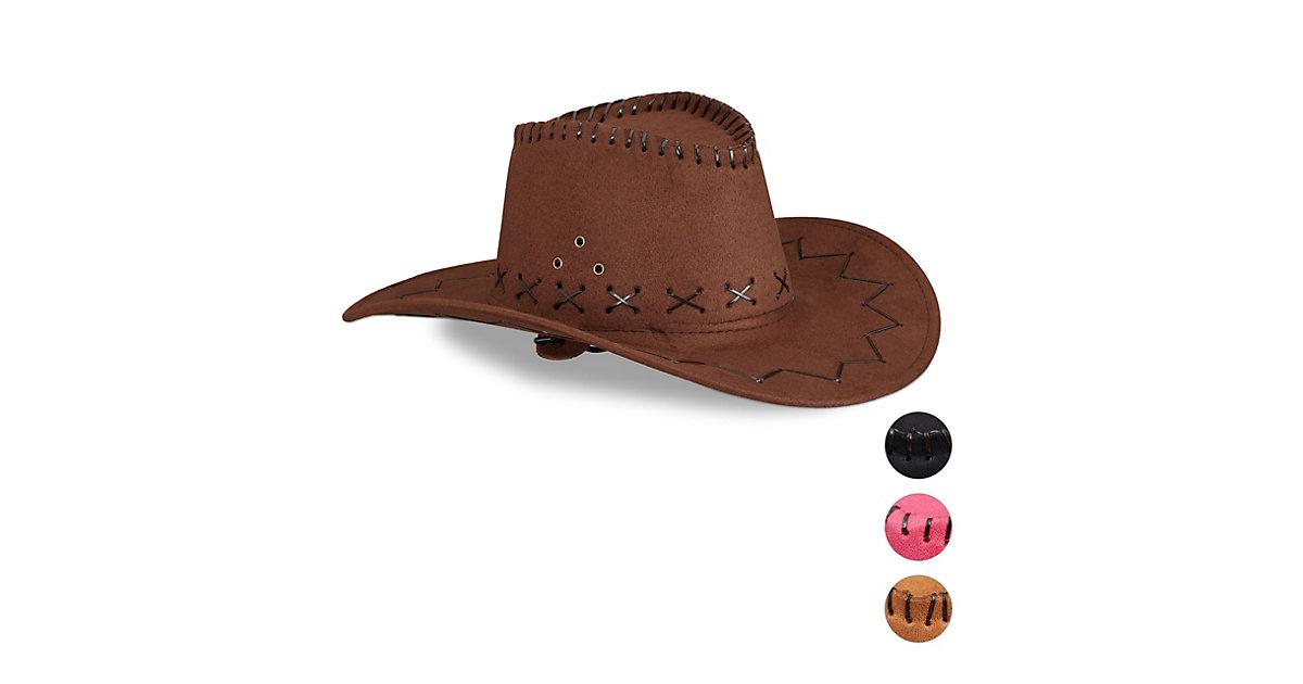 1 x Cowboyhut Karneval Westernhut Fasching Faschingshut Hut Cowboy dunkelbraun