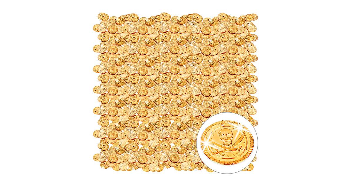 1152er Pack Goldtaler Piraten großer Piratenschatz Goldmünzen Piratenmünzen