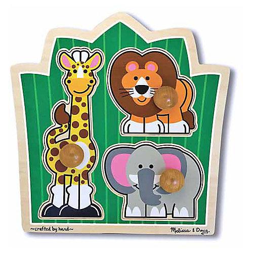 """Мои первые пазлы Melissa & Doug """"Друзья из джунглей"""", 3 элемента от Melissa & Doug"""
