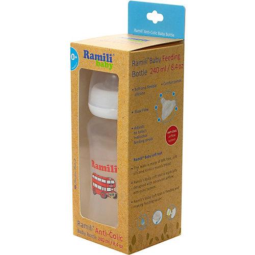 Противоколиковая  бутылочка для кормления Ramili Baby (240 мл., 0+, слабый поток) от Ramili