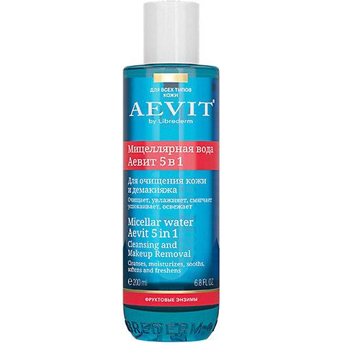 Мицеллярная вода для очищения кожи и демакияжа AEVIT BY Librederm 5 в 1, 100 мл