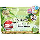 Курс натуральных масок для лица Japan Gals с экстрактом алоэ, 30 шт