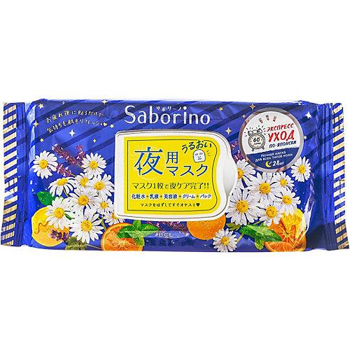 Ночная тканевая экспресс-маска для лица Saborino Успей за 60 секунд, 28 шт