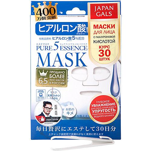 Маска Japan Gals Pure5 Essence с гиалуроновой кислотой, 30 шт