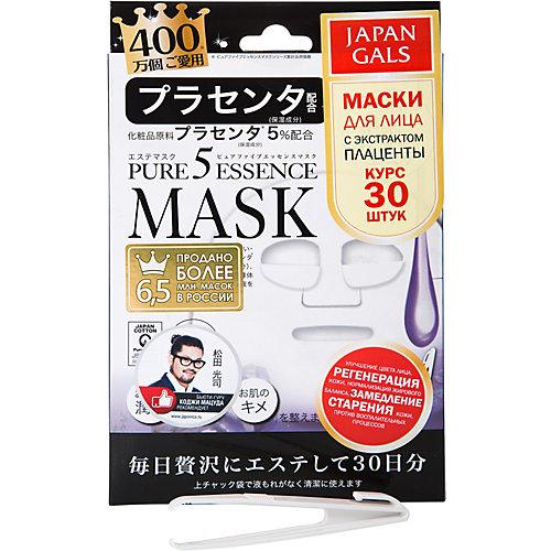 Маска Japan Gals Pure5 Essence с плацентой, 30 шт