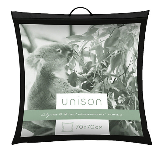 Подушка Unison Tencel 70х70 средняя - белый