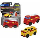 Машинка-трансформер 1Toy Transcar Double Пожарная машина/джип, 8 см