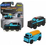 Машинка-трансформер 1Toy Transcar Double Полиция/бензовоз, 8 см
