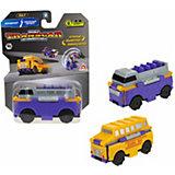 Машинка-трансформер 1Toy Transcar Double Даблдэккер/школьный автобус, 8 см