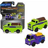 Машинка-трансформер 1Toy Transcar Double Лесовоз/автовоз, 8 см