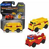 Машинка-трансформер 1Toy Transcar Double Грузовик/пожарная машина, 8 см