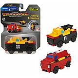 Машинка-трансформер 1Toy Transcar Double Погрузчик/пожарная машина, 8 см
