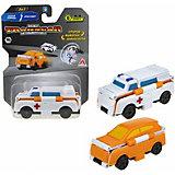Машинка-трансформер 1Toy Transcar Double Скорая помощь/кроссовер, 8 см