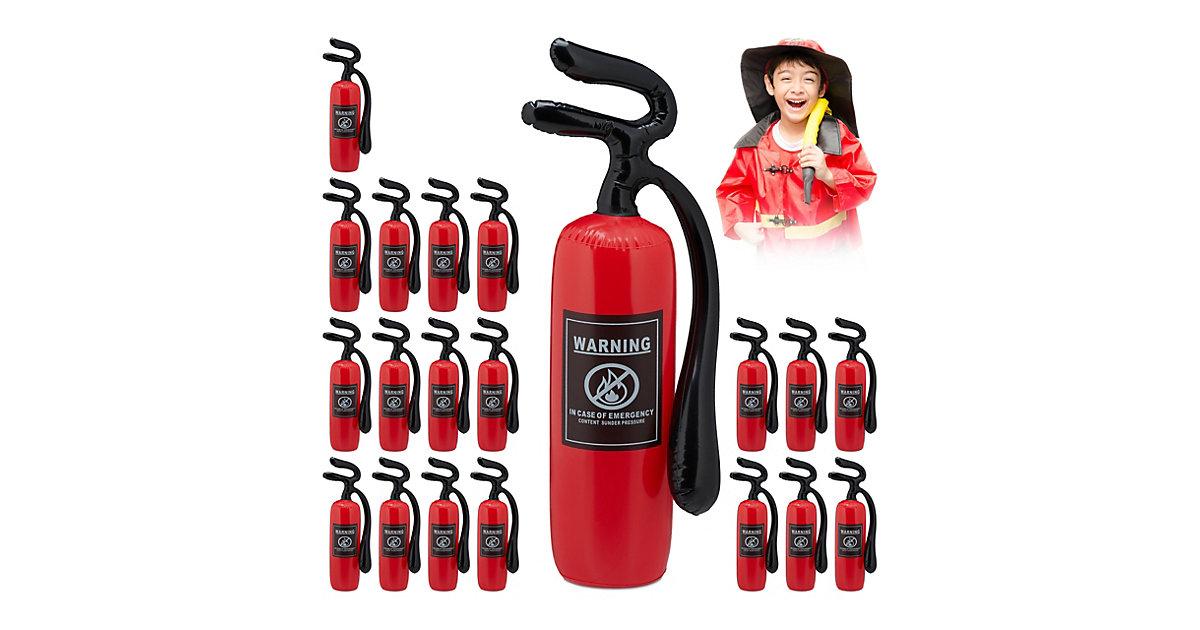 20 x Feuerlöscher aufblasbar, Kinderfeuerlöscher rot, Feuerwehrlöscher Spielzeug
