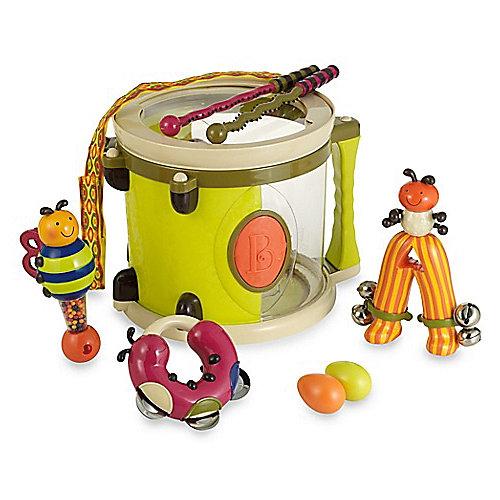 Набор музыкальных инструментов B.Toys, с барабаном и погремушками от B.Toys