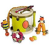 Набор музыкальных инструментов B.Toys, с барабаном и погремушками