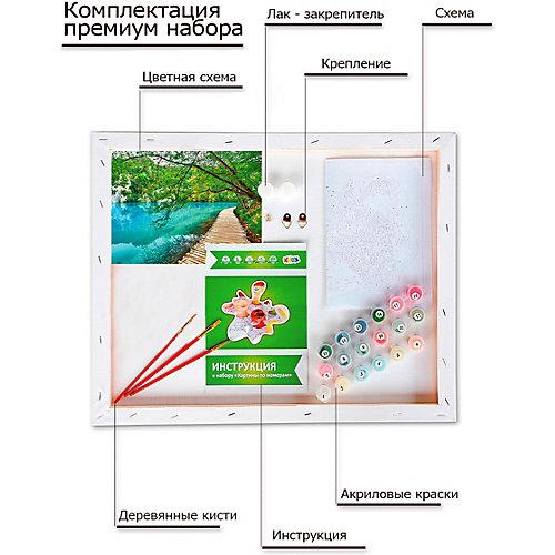 """Картины по номерам Цветной """"Лазурное озеро"""" от ТМ Цветной"""