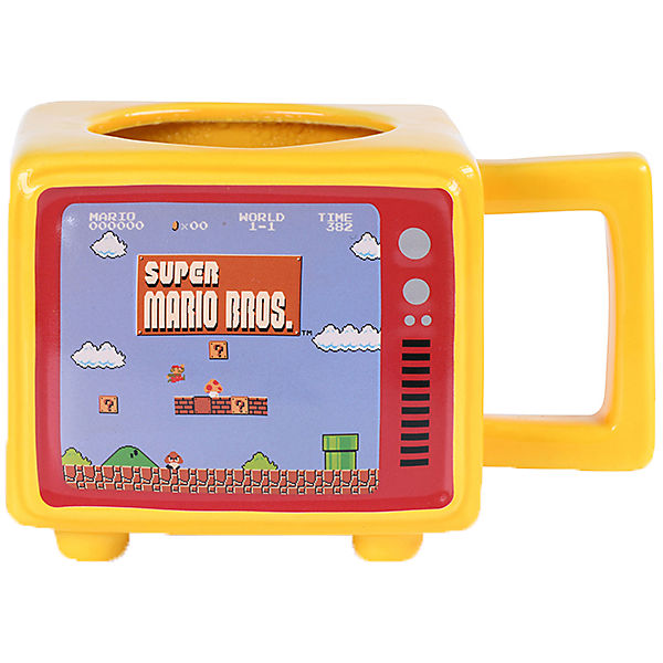 Tasse Nintendo - Supermario Retro Tv(Thermoeffekt)