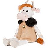 Мягкая игрушка Maxitoys Luxury Коровка Глаша в бежевом пальто, 23 см