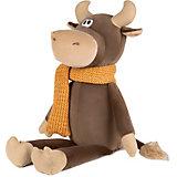 Мягкая игрушка Maxitoys Luxury Бычок Федот в вязаном шарфе, 23 см